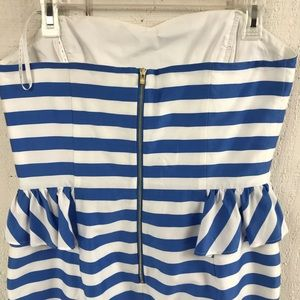 Lilly Pulitzer Dresses - Lilly Pulitzer strapless striped dress size 12